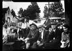 Group Of People At Wiggin Auction In Kezar Falls by George French