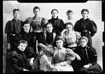 """Group Shot Of 11 Young Women. """"K.F. Group Of 11 Girls, Blanche, Page, Etc"""" by George French"""
