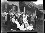 """Group Photo Of Large Family. """"Parsonsfield Group In Hussey Yd- Baby L."""" by George French"""