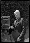 George French With 8x10 View Camera At Age 60 (With Coat On) by George French