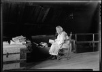 George French's Mother Reading Book In Attic Room. by George French