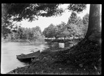 Boat Pulled Up On Shore Of River Below Effingham Falls. by George French