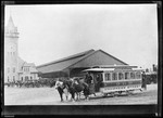 Horse Drawn Trolley At Union Station In Portland. by George French