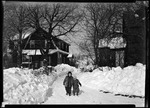Don French And Dottie French Walking Along A Snow Lined Walk In New Jersey by George French