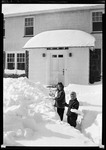 Don And Dottie French Shoveling Snow . by George French