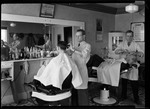 Interior Of Frank Shaw's Barber Shop In Parsonsfield by George French