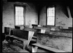 Interior Of Old One Room School House In Parsonsfield by George French