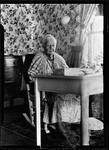 George French Mother Sitting At A Writing Desk by George French