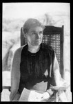 """3/4 Photo Of A Lady Sitting In A Chair """"Mrs. Ernst"""" by George French"""