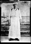 """Full Length Photo Of A Man Wearing A Heavy Leather Apron """"Maurice's Father"""" by George French"""