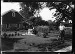 George French Mowing His Lawn In New Jersey by George French