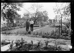 George And Gramp Looking Over The Garden by George French