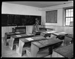 Interior View Of Old School House In Deerfield, Massachusetts Showing Blackboards, Desks, Etc. by George French