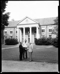Three Men Out In Front Of A Large Building In Deerfield Massachusetts by George French