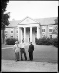 Three Men In Front Of A Large Building At Deerfield, Massachusetts by George French
