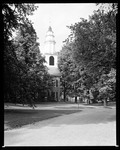 Tall Spired Church In Old Community Of Deerfield, Massachusetts by George French
