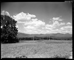 View Of Field To Mountains In Sandwich, N.H., Bird Houses In Field by George French