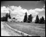Large House On Left, Other Buildings Far Right, Large Field In Foreground In Sandwich, N.H. by George French