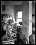 Woodcarver At His Bench In Grafton, Vermont by George French