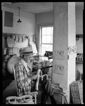 Wood Carver At His Bench In Grafton, Vermont by George French