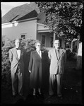Officers Of Parsonsfield Historical Society, L To R, Dr William Teg, Historian, Ina Emery, Pres. Orion Stanley, Charter Pres. by George French