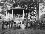 Band Stands In Front Of Bandstand In Kezar Falls by George French