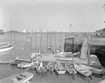 Many Small Boats At Dock Next To Yacht Club, Looking Toward Outer Harbor In Camden by George French