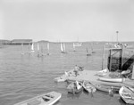 Small Sailboats By Yacht Club Looking Towards Outer Harbor In Camden by George French