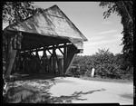Close Up Of End Of Covered Bridge In Porter by George French