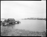 Fish House Far Left, Village Far Right On Lubec by George French