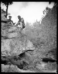 Teg Shows Herb A Specimen From Atop A Large Boulder In Fryeburg by George French