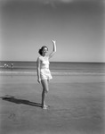 Girl At The Beach In Kennebunk by George French