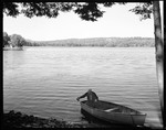 Art Lougee Bails His Boat Out In Foreground, Panoramic View Of Lake In Background, From Under Overhanging Tree--Limerick by George French