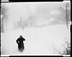 Man, George French, Walking Towards Camera In A Snowstorm Monson by George French