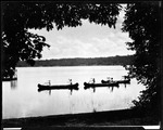 Canoes On A Lake, Thru Trees, At Beechwood by George French