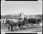Young Adults Enjoying A Hayride In Alfred by George French