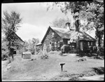Front View Of French Homestead In Parsonsfield, Well At Left, Clothes Hung Out Near Front Door by George French