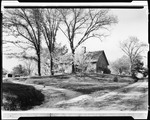 Front View Of French Homestead In Kezar Falls, Well At Left, Crib On Swing In Front by George French