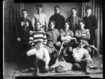 Group Photo Of Parsonsfield Seminary Baseball Team, 11 Players In Studio by George French