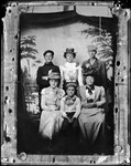 6 People Sit Outdoors, Small Photo, 1928