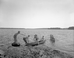 Wavus Camp Boys Land On Inlet With Canoes by George French
