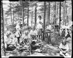 Cooking By Campfire At A Girls Camp In Union by French George