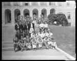 Group of Students On The Steps Of the State Capitol by George W. French