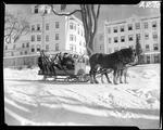 Group Of People, On A Horse Drawn Sleigh, Heading Off To Go Skiing At A Lodge In Poland Spring by George W. French