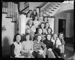Group Of Young Women At A Ski Lodge In Poland Spring by George W. French