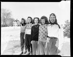 Five Young Women Outfitted For A Day Of Skiing At Poland Spring by George W. French
