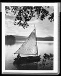 Small Sailboat On A Lake In Waterboro by George French