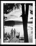 Two Men Returning From Fishing On A Lake In Waterboro by George French