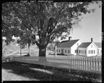Cape Style House With White Picket Fence Out Front, Country Setting In East Parsonsfield by George French
