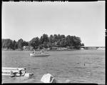 Motor Boat On Sebago Lake by George French
